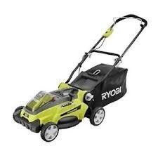 """Ryobi 16"""" 40-Volt Lithium-Ion Cordless Battery Walk Behind Push Lawn Mower Without Battery and Charger RY40104A"""