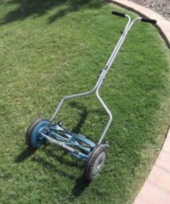 "Environmentally Friendly Lawn Mowers 14"" Deluxe Hand Reel Push Mower Lawn Care"