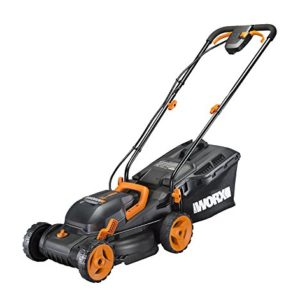 "Worx WG779 2x20V (4.0AH) Cordless 14"" Lawn Mower With Mulching Capabilities and Intellicut, Dual Charger, 2 Batteries"