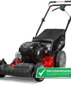 """Snapper 12AVB2A2707 21"""" Self Propelled Gas Powered Mower with Side Discharge, Mulching, Rear Bag and Rear High Wheel, Dual-lever Height Adjustment with 6 Cutting Positions"""