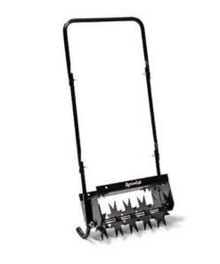 "Walk Behind Garden Soil Lawn 5 Wheel Lawncrafter 16"" Push Spike Aerator"