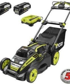 Ryobi 20 in. 40-Volt Brushless Lithium-Ion Cordless Self-Propelled Walk Behind Mower - Two 5.0 Ah Batteries/Charger Included