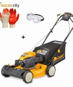 Toucan City Nitrile Dip Gloves(5-Pack) with Safety Goggles and Cub Cadet FastAttach All-Season Plow for XT Series Lawn Tractors SC700