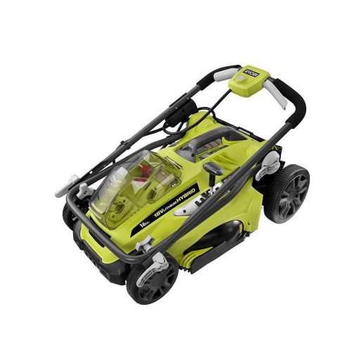"""16"""" ONE+ 18-Volt Lithium-Ion Hybrid Cordless or Corded Lawn Mower (Battery and Charger Not Included)"""