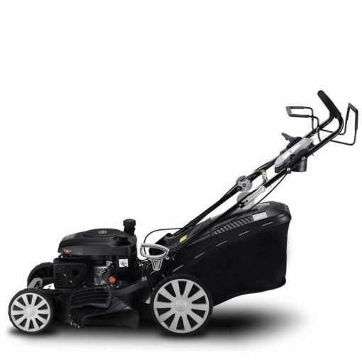 Garden Bean 20 inch 161cc OHV High Wheel Self Propelled Lawn Mower 3-in-1 Gas Powered 20 inch Deck Recoil Start System 10 inch Wheels