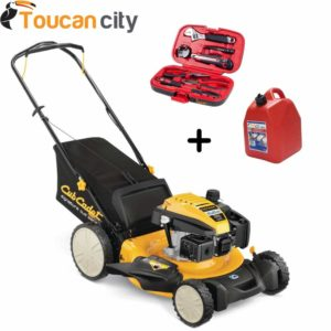 Cub Cadet 21 in. 159cc 3-in-1 High Rear Wheel Gas Walk-Behind Push Mower SC100HW and Toucan City Tool kit (9-Piece) & Gas Can