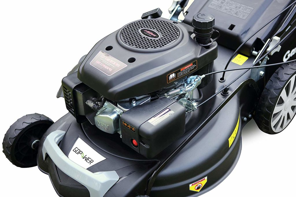 GDPOWER 161cc 4-in-1 Self-Propelled Gas Lawn Mower with 20-Inch Deck and  Recoil Start System, OHV Engine, Rear Bag/Side Discharge/Mulch/Bag, 11-inch