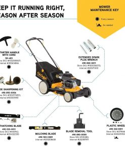 CUB CADET 21 in. 160cc Honda 3-in-1 High Rear Wheel Gas Walk Behind Push Mower