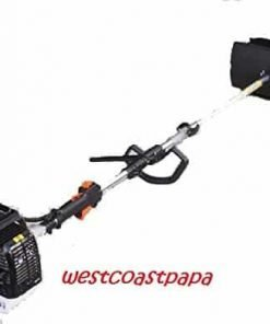 HAND HELD WALK BEHIND SWEEPER BROOM CONCRETE DRIVEWAY CLEANING, 52cc GAS POWER
