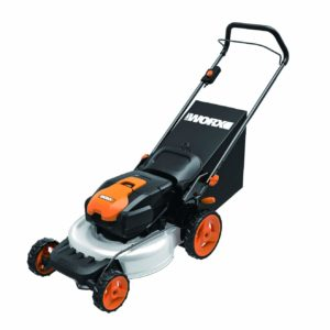 WORX WG770 36V 2-in-1 Cordless Mower with Single Lever Depth Setting, 19-Inch, Battery and Charger Included