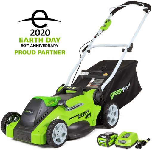 Greenworks G-MAX 40V 16'' Cordless Lawn Mower with 4Ah Battery - 25322 model 2