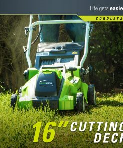 Greenworks G-MAX 40V 16'' Cordless Lawn Mower with 4Ah Battery - 25322 model 3
