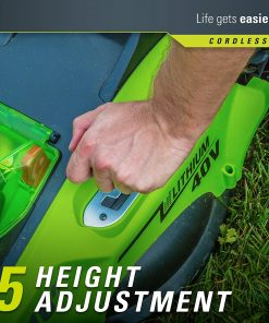 Greenworks G-MAX 40V 16'' Cordless Lawn Mower with 4Ah Battery - 25322 model 4