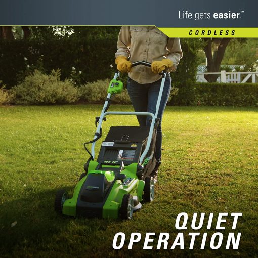 Greenworks G-MAX 40V 16'' Cordless Lawn Mower with 4Ah Battery - 25322 model 6